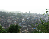 ariel view of Freetown - capital city
