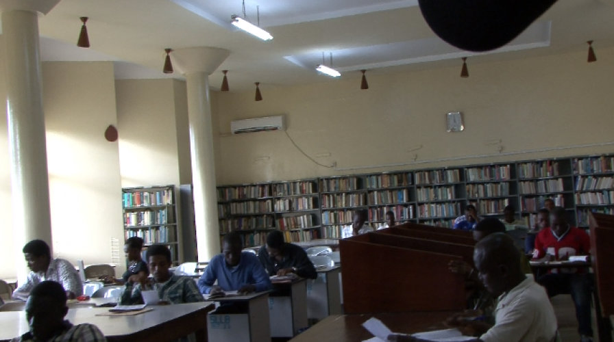 adult reading section at Freetown central library