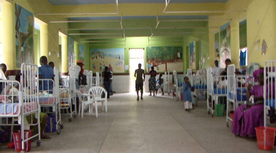 children's ward at the govt hospital in Freetown where books and soft toys were donated