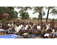 Peninsular Secondary school students at the hand-over ceremony
