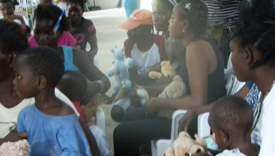 sick kids receive books and soft toys