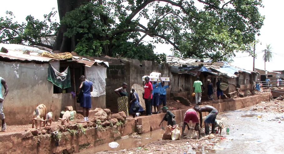 A local informal community in Freetown