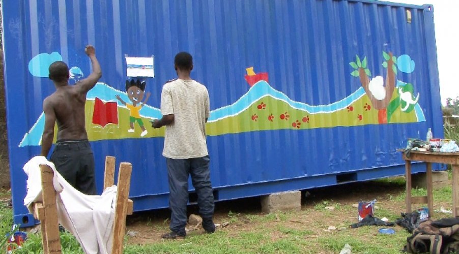 container artwork in progress