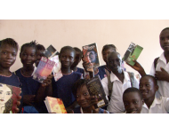 PEN club members proudly display their books